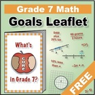 "Grade 7 FREE ""I Can"" Leaflet of Goals for Common Core Math"