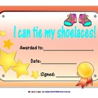 FREE - I Can Tie my Shoelaces Award - 1 page