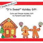 "FREE ""It's Sweet!"" Gingerbread Cookie Holiday Card"