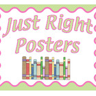 FREE Just Right Reading Poster