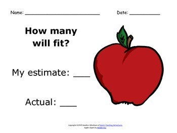 FREE K-2 Estimation Activities