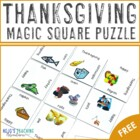 FREE K-2 Thanksgiving Magic Square