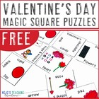 FREE K-2 Valentine's Day Magic Square Puzzle