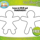 FREE Kid Silhouette  Clipart — Includes Solid and Transpar