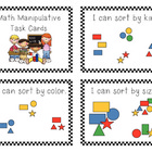 FREE Kinder Math Manipulative Task Cards