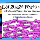FREE!! Language Features Wall Display US English 17 Posters