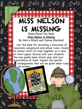 FREE MINI UNIT: Miss Nelson Is Missing ~ Ideas, Activities