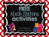 FREE Math Stations Activities