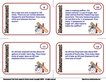 FREE Measurement Task Cards: Grades 4-6