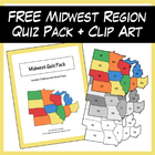 FREE Midwest Region Quiz Pack + Clipart
