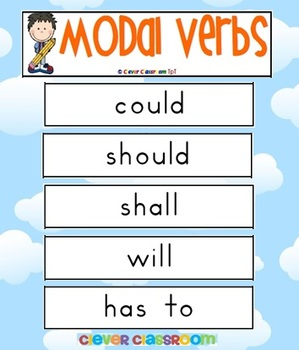 FREE - Modal Verbs Word Wall - 5 pages
