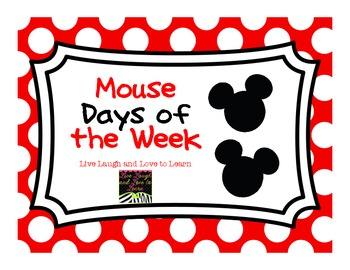 FREE Mouse Days of the Week Cards