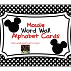 FREE--Mouse Word Wall Alphabet Cards--ABC