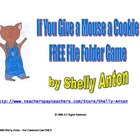 FREE Mouse a Cookie File Folder Game Special Education Autism