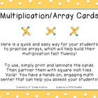 FREE Multiplication-Array Cards (An Engaging Way to Practi