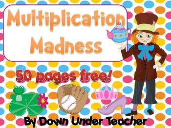 FREE Multiplication Madness 50 pages