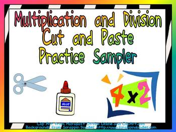 FREE Multiplication and Division Cut and Paste Sampler