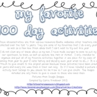 {FREE} My Favorite 100 Day Activities