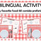 FREE My favorite food-mi comida preferida english spanish