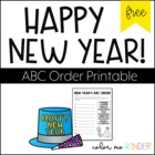 FREE New Year's ABC Order Printable