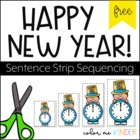 FREE New Year's Themed Sequencing Activity Fun