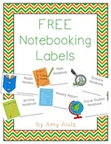FREE ~ Notebooking Labels ~ Math ~ Science ~ Reading ~ Writing