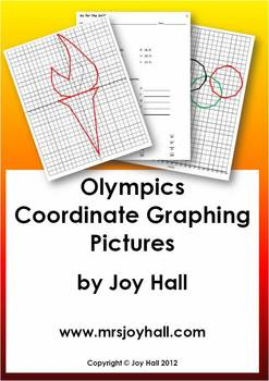 FREE Olympic Medal Coordinate Graphing Activity-First & Fo