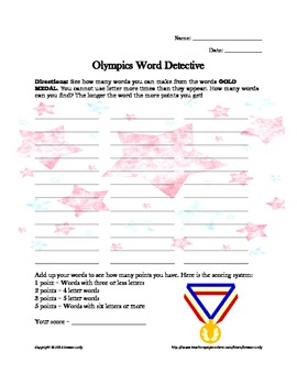 FREE Olympic Puzzles, Creative Drawing Pages, & More!