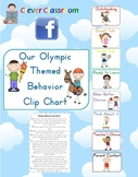 Olympic Themed Behavior Clip Chart Posters - 20 pages