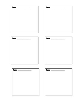FREE Post It Note Template