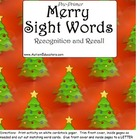 FREE Pre-Primer Sight Words Christmas Theme