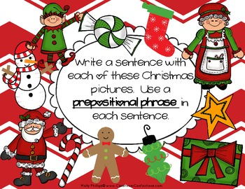 FREE Prepositional Phrases Lesson {Christmas Themed Activity}