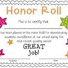 FREE Primary Honor Roll Certificate