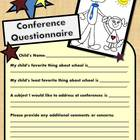 FREE  Printable Parent Teacher Conference Questionnaire Form