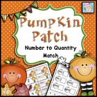 FREE! Pumpkin Patch Number to Quantity Match