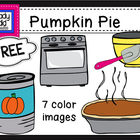 FREE Pumpkin Pie Clipart {Color Images Only}