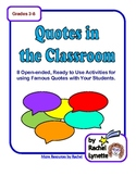 FREE Quotes in the Classroom - 8 Activities for Using Famo