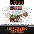 FREE Re-Thinking Centers: Creating a Simplified System for