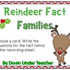 FREE Reindeer Fact Families