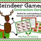 FREE Reindeer Games Contraction Cards