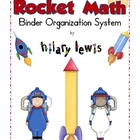 FREE Rocket Math Binder Organization Labels