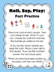 FREE Roll, Say, Play:  Fact Practice (Math Center)
