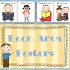 FREE Room Area Posters - Classroom Resource - 13 pages