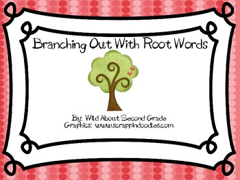 FREE-- Root Word/Suffix Literacy Center---Word Work