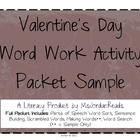 FREE SAMPLE - Valentine's Word Work Activity Packet