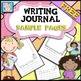 FREE Sample of Kindergarten and First Grade Writing Journal pages