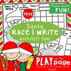 FREE Santa Race and Trace Worksheet