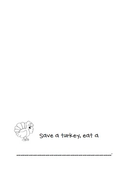 FREE-Save a Turkey Class Book