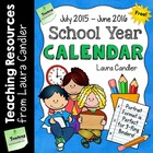 FREE School Year Calendar (2012 - 2013)