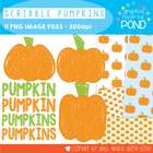 FREE Scribble Pumpkin Set - Clipart for Teachers